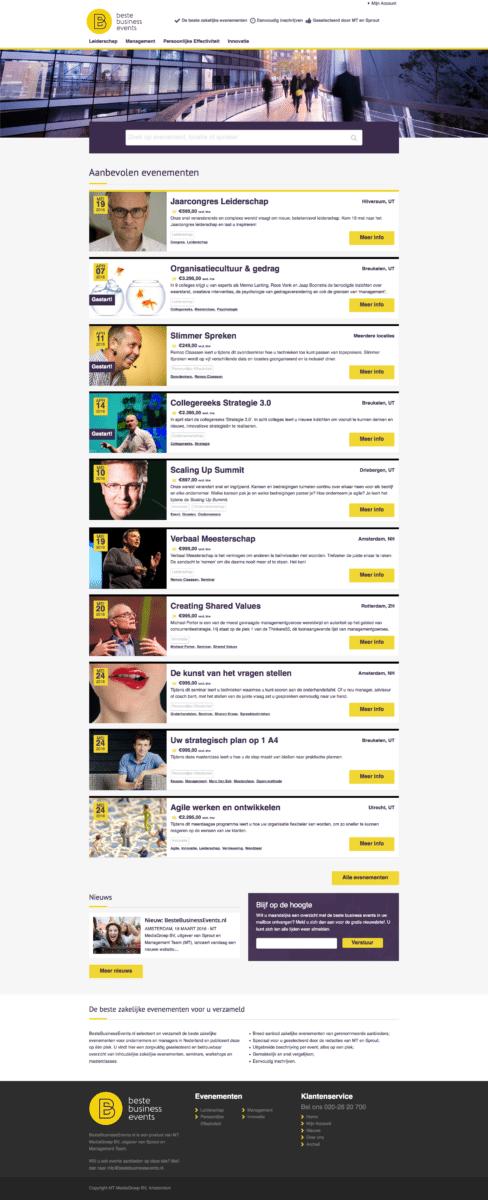 Website Beste Business Events